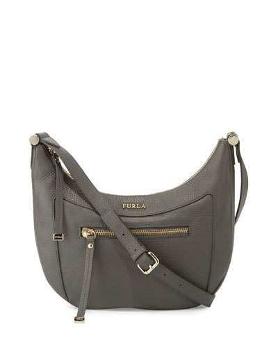b1aea3366156 FURLA Ginevra Small Leather Crossbody Bag