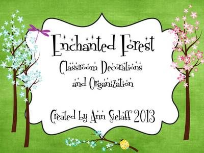 Enchanted Forest Room Decorations and Organization from The Caffeinated Classroom on TeachersNotebook.com (185 pages)