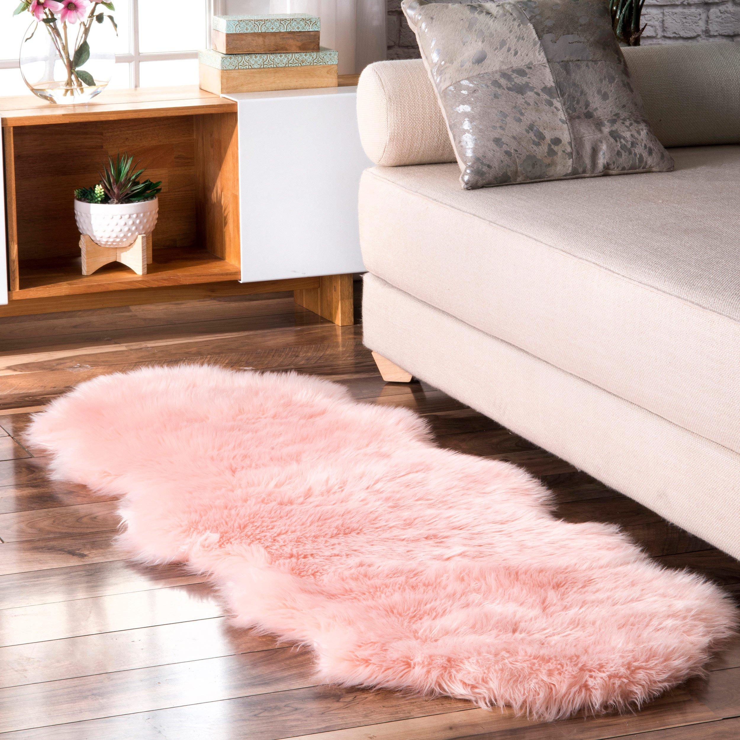Terrell Solid Faux Sheepskin Bedroom Decor Area Rugs Rugs #sheepskin #rug #living #room