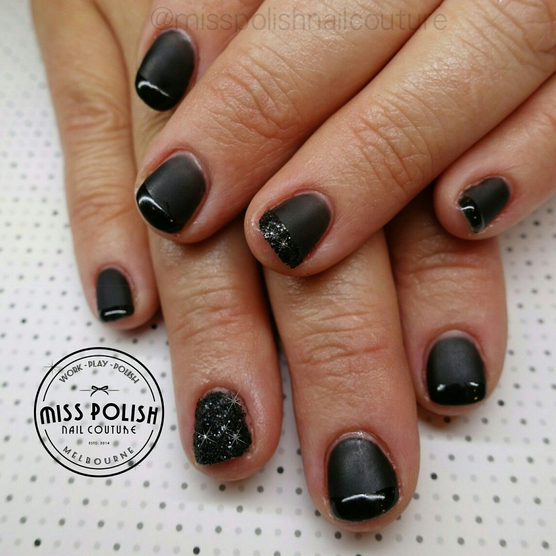 Black nails. Matte nails. Matte black. Gel polish. Gel nails ...