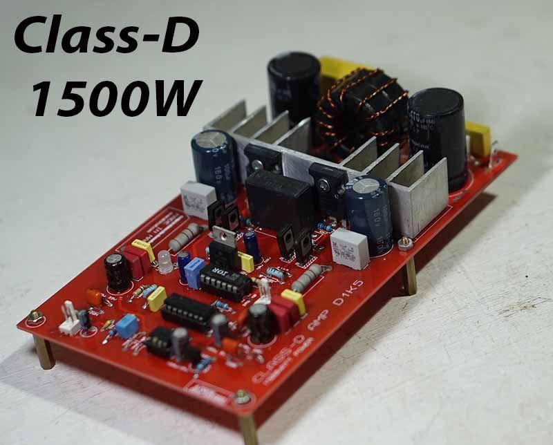 Class-D Power Amplifier Circuit D1K5 | Audio amplifier ...
