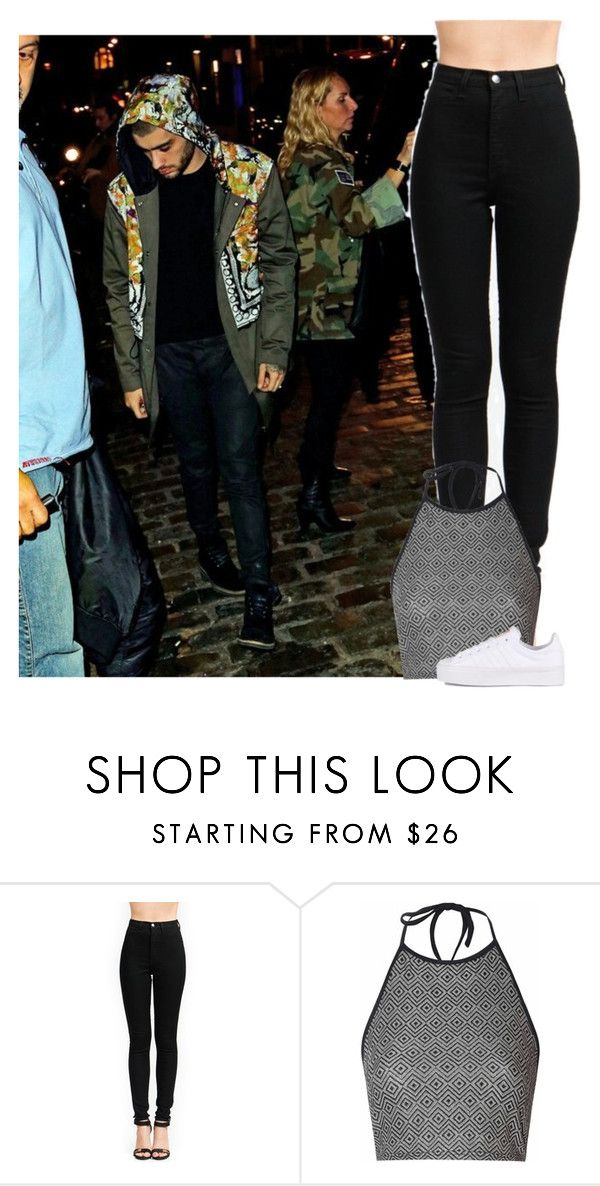 """Dinner with Zayn"" by jaisgirlfriend ❤ liked on Polyvore featuring Glamorous and adidas Originals"