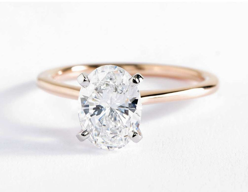 Petite Solitaire Engagement Ring In 14k Rose Gold F A I R Y