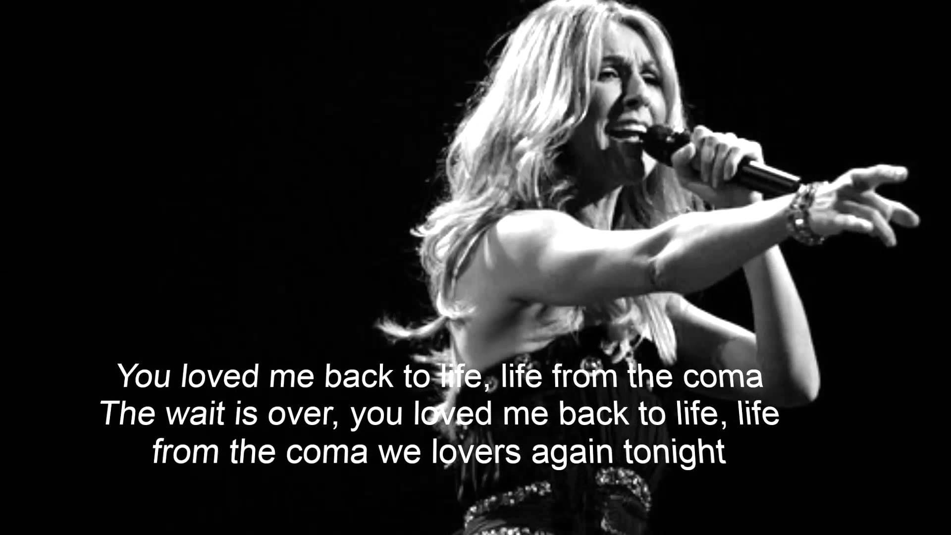 Celine Dion Loved Me Back To Life Lyrics Celine Dion Life Lyrics Music Videos