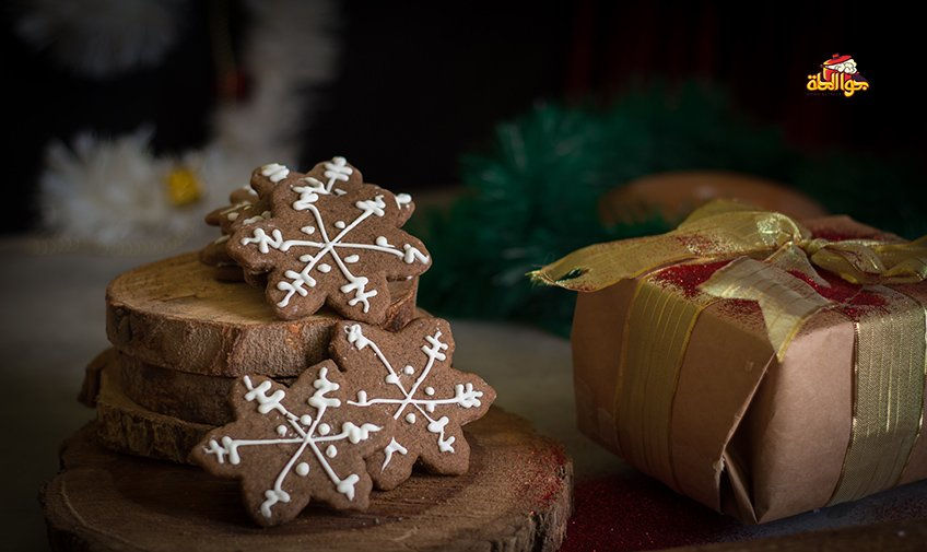 طريقة عمل كوكيز القرفة جوا الحلة Cinnamonstars Christmascookies Food Writing Place Card Holders Recipes