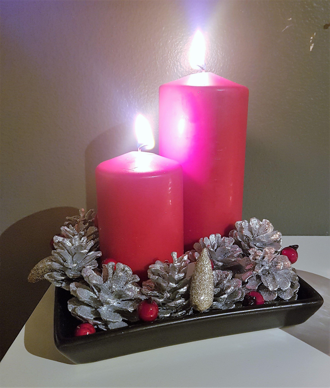 Jolakertaskreyting Christmas Candle Decoration Christmas Candle Decorations Christmas Candle Pillar Candles