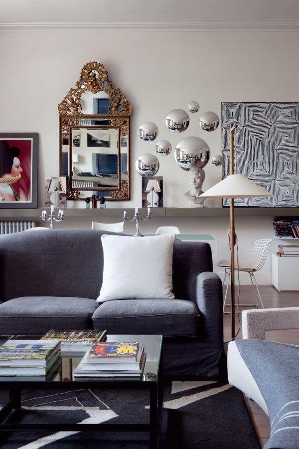 Un appartement d\u0027architecte chic et lumineux Interiors, Living