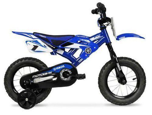Yamaha Bmx Bike Moto 12 Bicycle Pedal Motorcycle Training Wheels