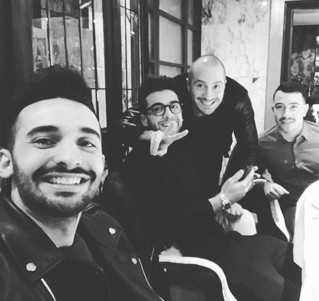 Repost dariomirabile  Amicizia e sorrisoni!! 😁😁🔝🔝🔝 @barone_piero @alessandro_pera @davidepaxia #milan #friendship
