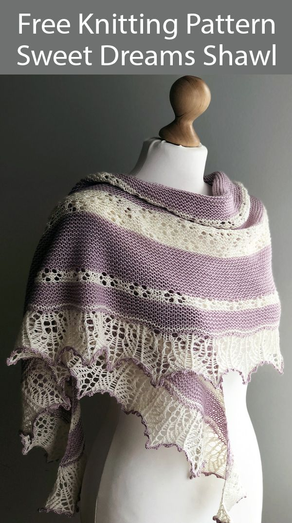 Photo of Free Knitting Pattern for Sweet Dreams Shawl