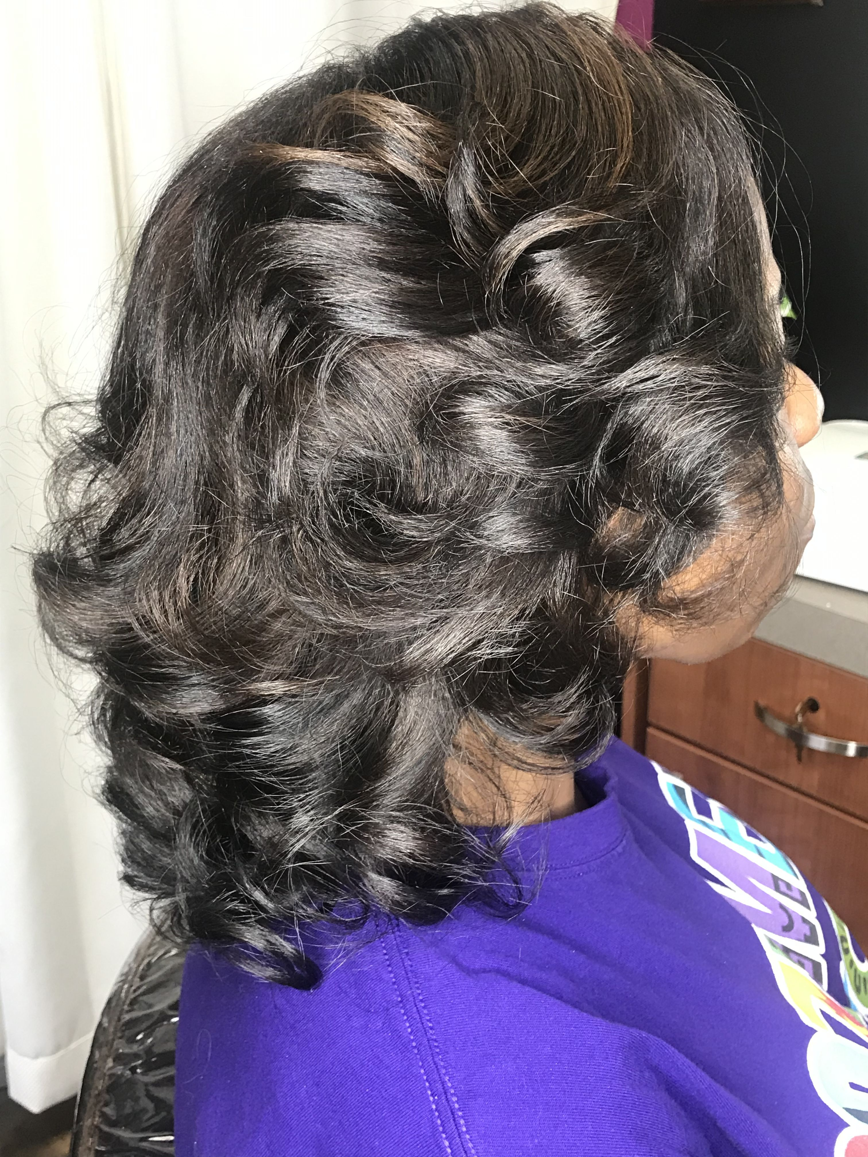 Curly Silk Press Using The By L Jones Toi Flat Iron And By L