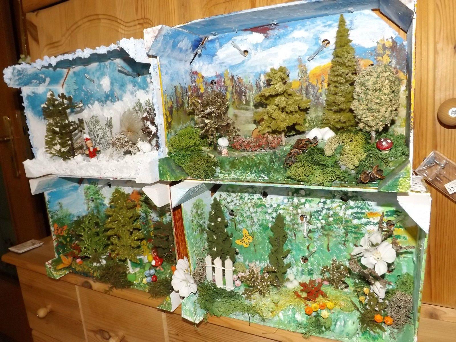 Wandbild Beleuchtet   Sommer Deko Regal Holz Geschenk Licht Baum Pilz  Blumen | EBay