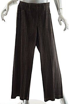 86ba16ddfab Brown Pleats Please Chocolate Polyester Pleated Clean - 2 Pants ...