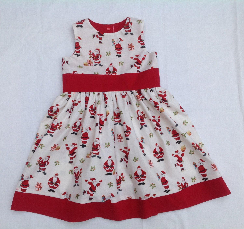 Baby Girl Dress Girls dress Christmas Dress Santa dress newborn