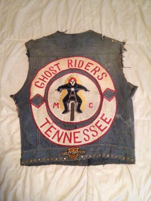 Vintage Motorcycle Club Vest Ghost Riders 2 Motorcycle Clubs Biker Gang Biker Clubs