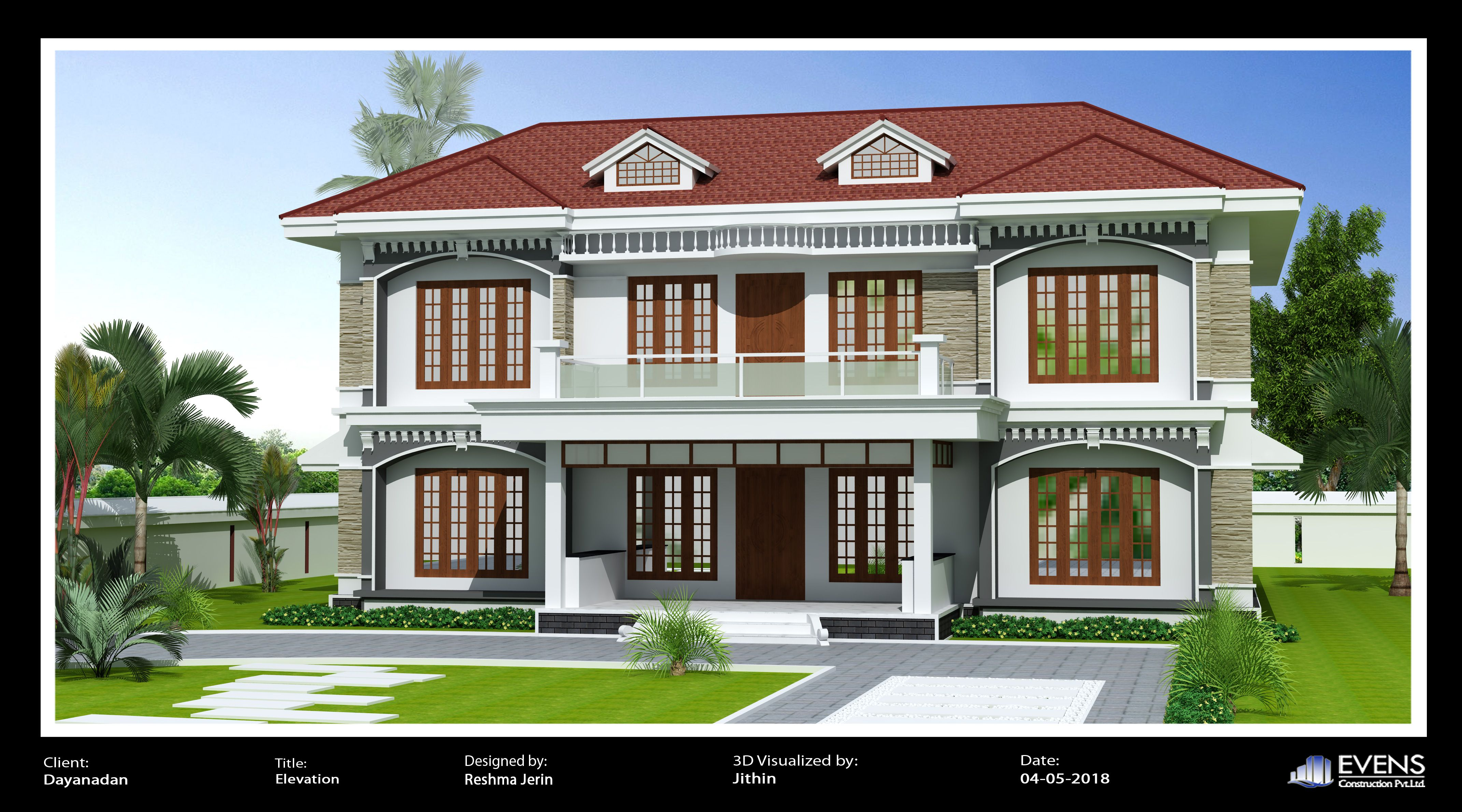 Traditional Style Elevation Kerala House Design Kerala Houses Duplex House Design