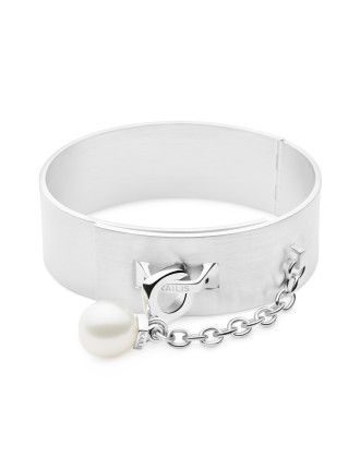 Surry Hills Silver Pearl Bangle