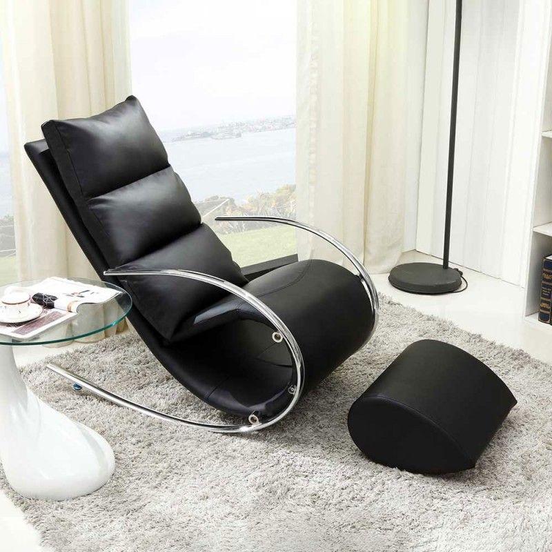 Design Schaukelsessel Mit Hocker Flossi 2 Teilig Moderne Wohnwelten Weiss Schwarz Grau In Bestform Floor Chair Chair Furniture