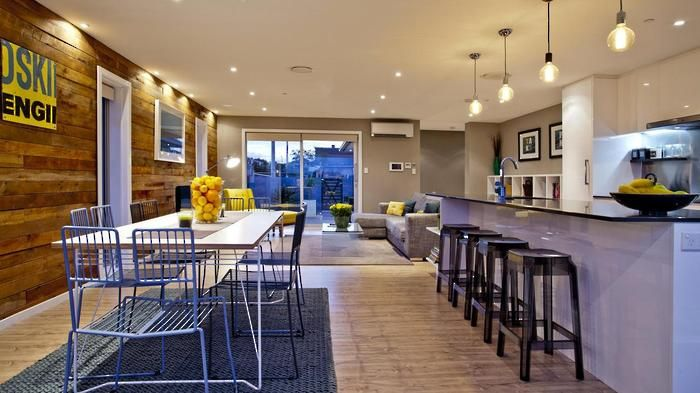 Ben & Libby\'s kitchen and dinning area on The Block NZ. Building ...