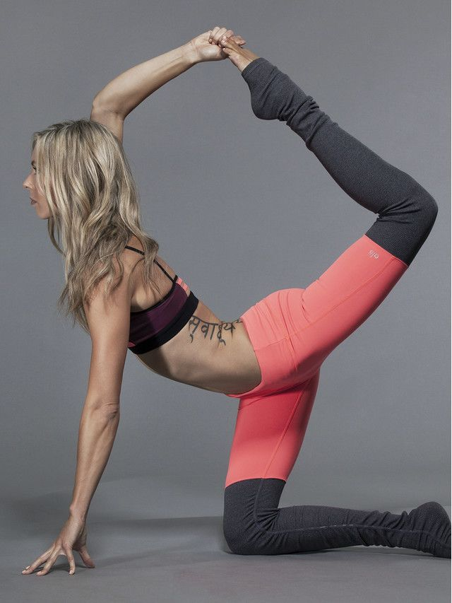 8a3438ee0fc76 Alo Yoga Goddess Ribbed Legging in Volcano/Stormy Heather | Acro ...
