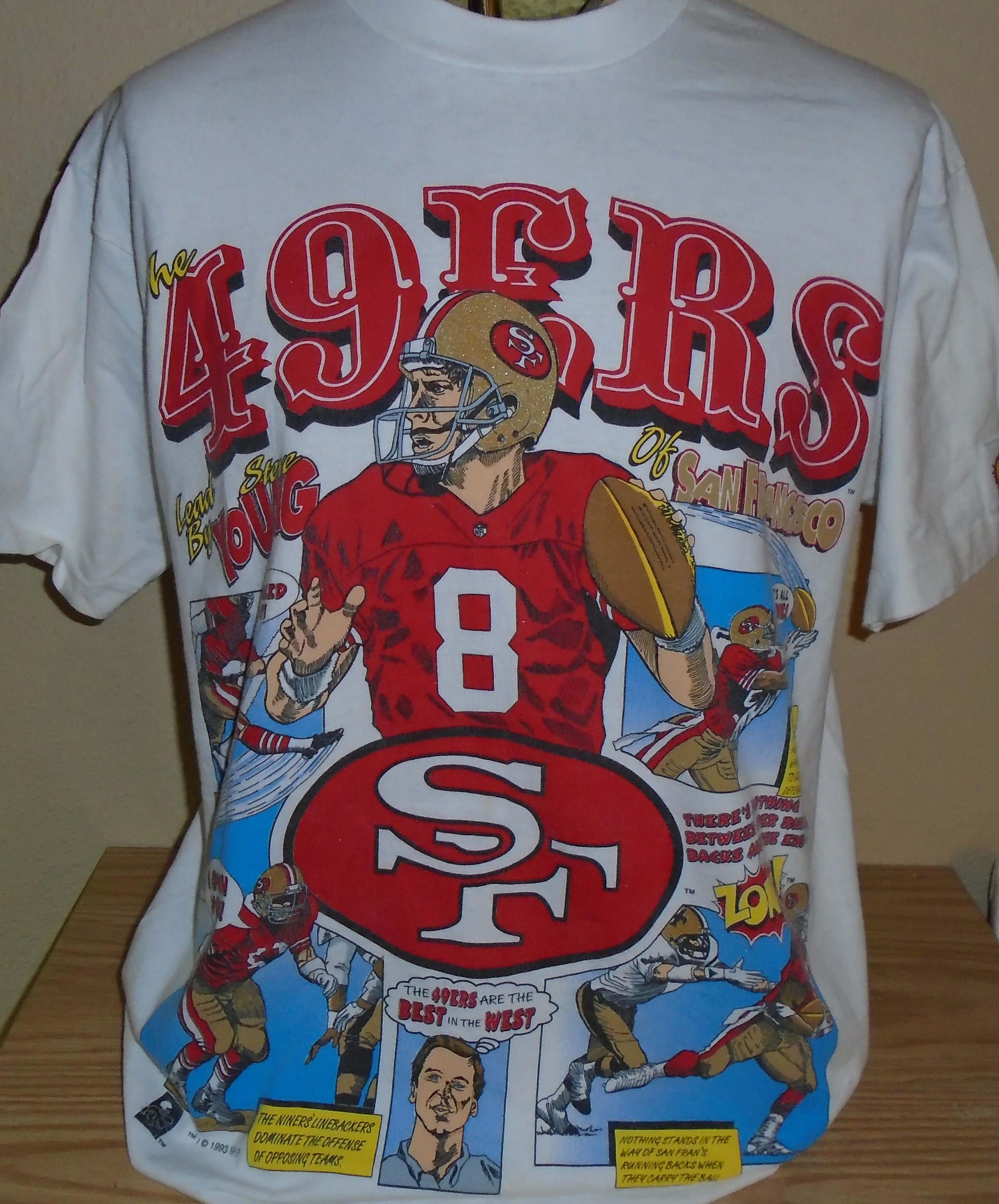 Vintage 1993 San Francisco 49ers Football Steve Young T Shirt Large By Vintagerhino247 On Etsy Vintage Tshirts San Francisco 49ers Football Etsy