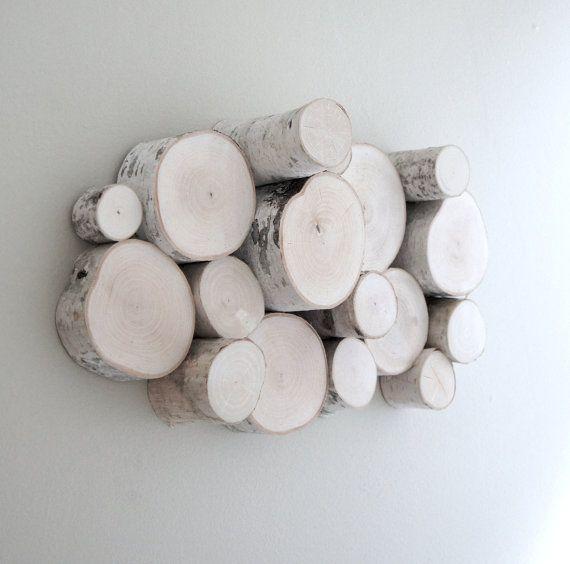 White Birch Forest Topography Organic Wood By Urbanplusforest 100 00 Birch Craft Wood Block Crafts Tree Branch Decor