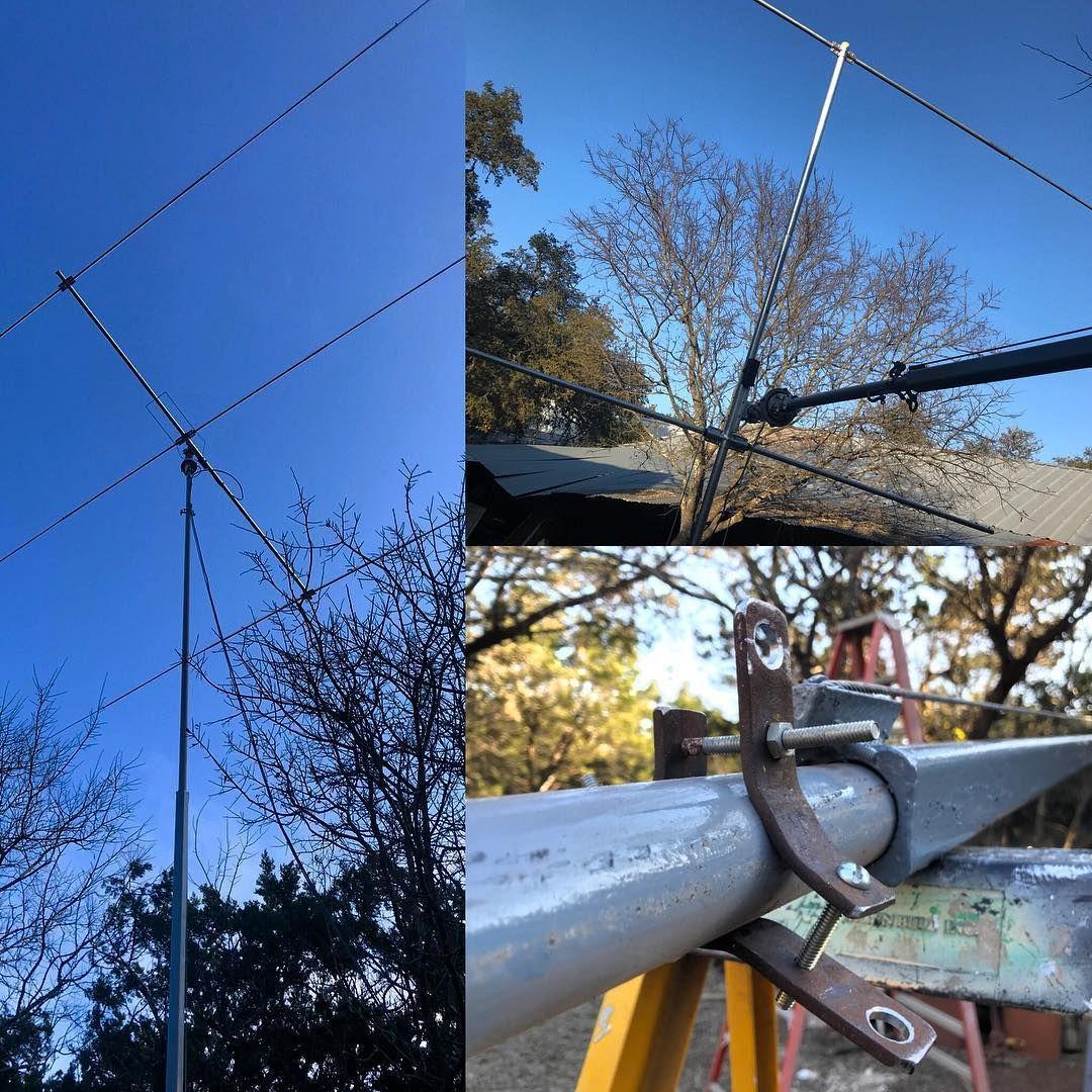 #new #homemade #tower #mast #tiltover #hamradio #amateurradio #amateurporn