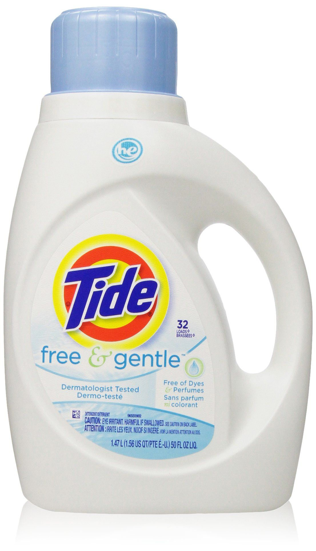 Tide Free And Gentle High Efficiency Liquid Laundry Detergent 50 Fl Oz Pack Of 2 Gentle Laundry Detergent Tide Free And Gentle Best Laundry Detergent