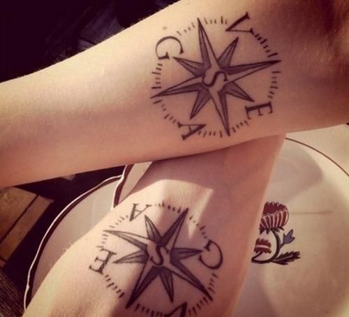 Compass Tattoo For Couples Tattoos And Tattoo Designs Compass Tattoo Feminine Compass Tattoo Couples Tattoo Designs
