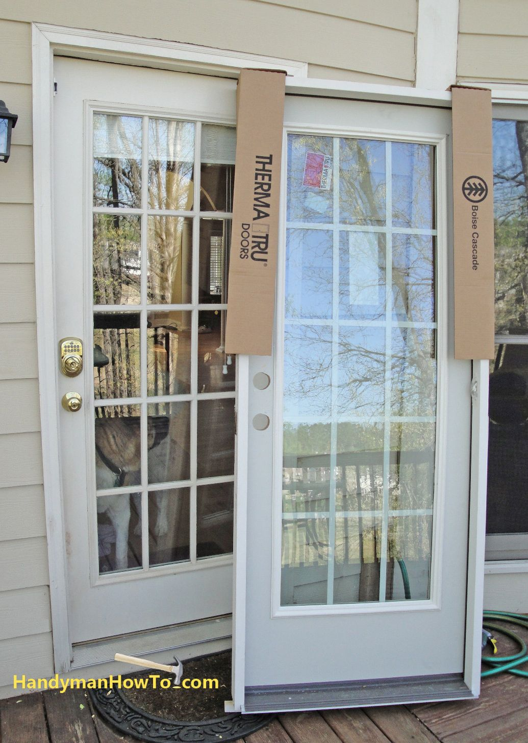 Step by step instructions showing how to replace an exterior door step by step instructions showing how to replace an exterior door with pre hung door planetlyrics Gallery