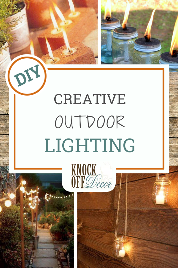 Outdoor Lights With Ambiance And Flare Knockoffdecor Com In 2020 Outdoor Lighting Knock Off Decor Diy House Projects
