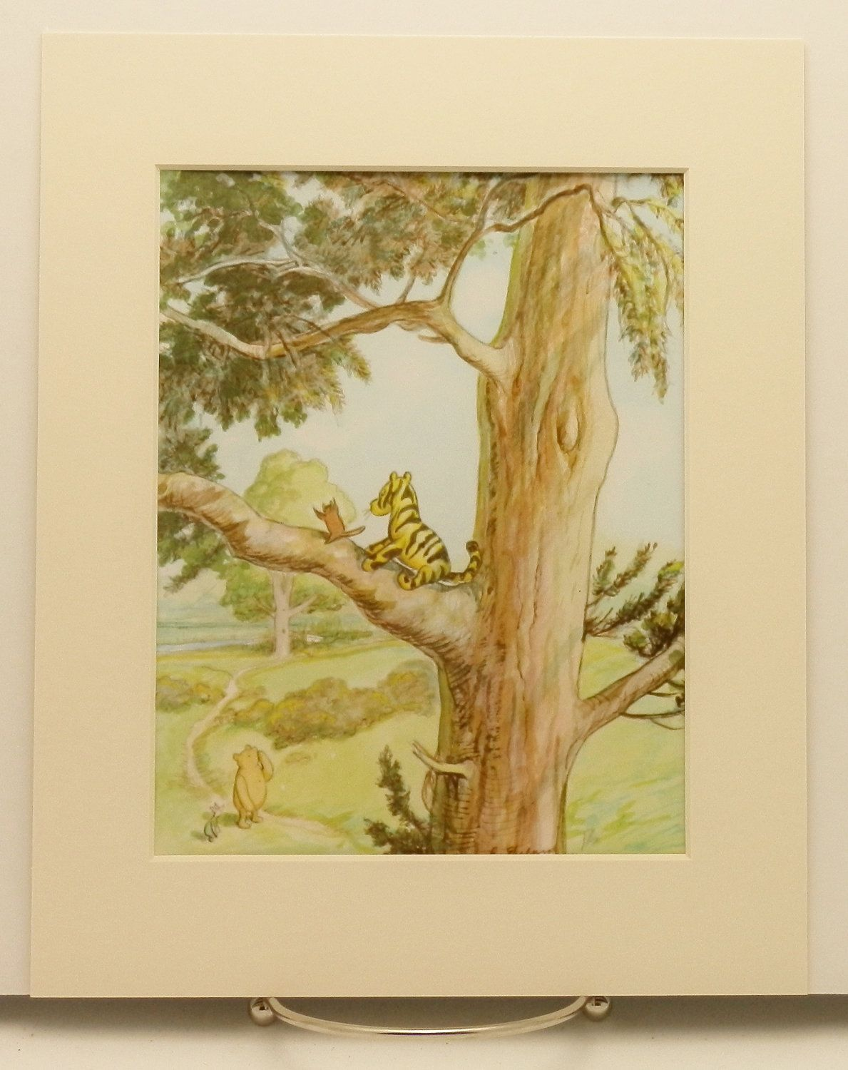 Tiggers Dont Climb Trees Print w/Mat, Vintage Classic Winnie the ...