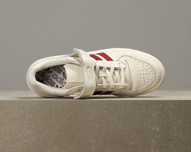 Adidas Forum Lo Chalk White Collegiate Burgundy Gum