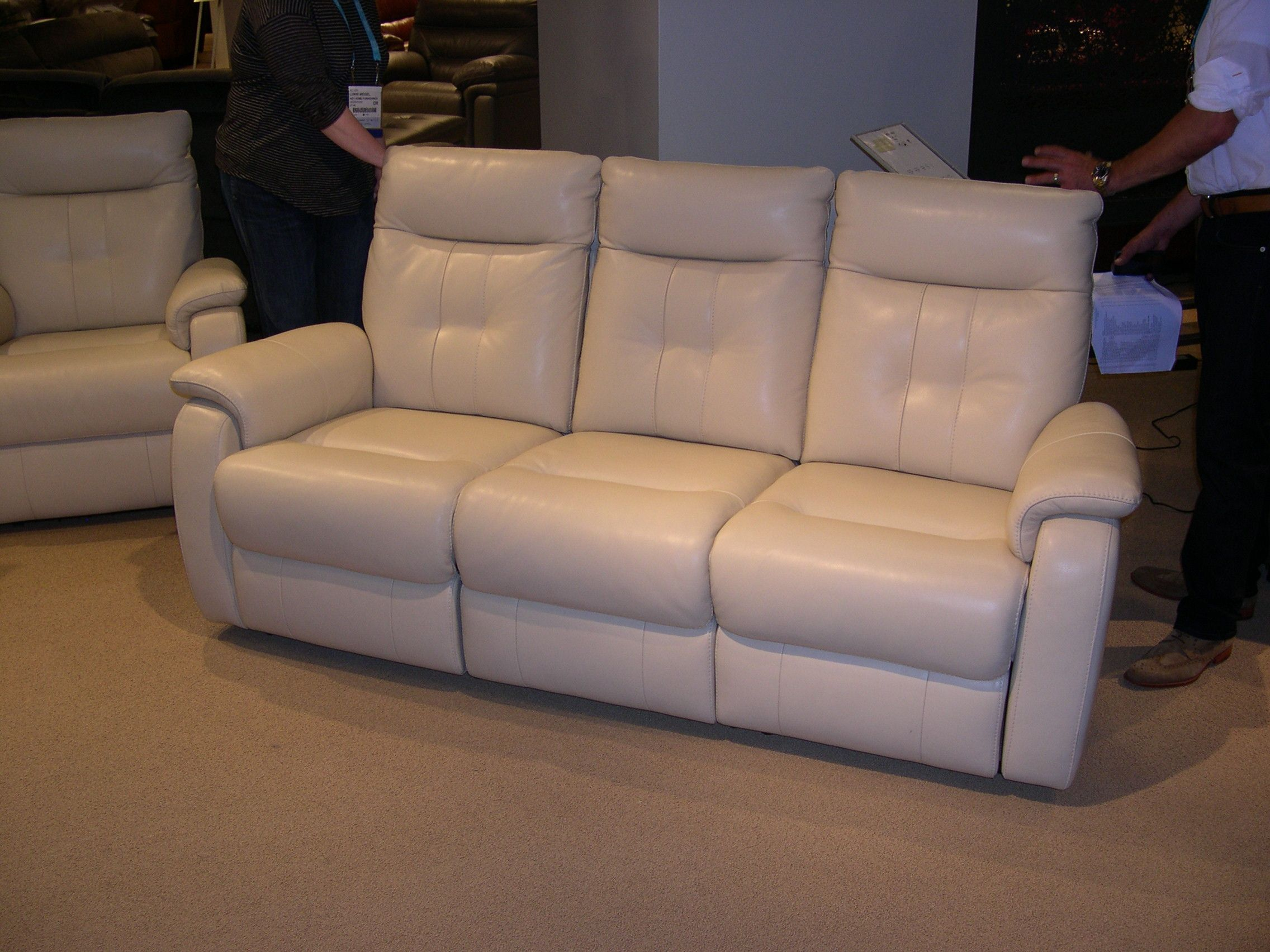HTL Leather Sofa High back very contemporary