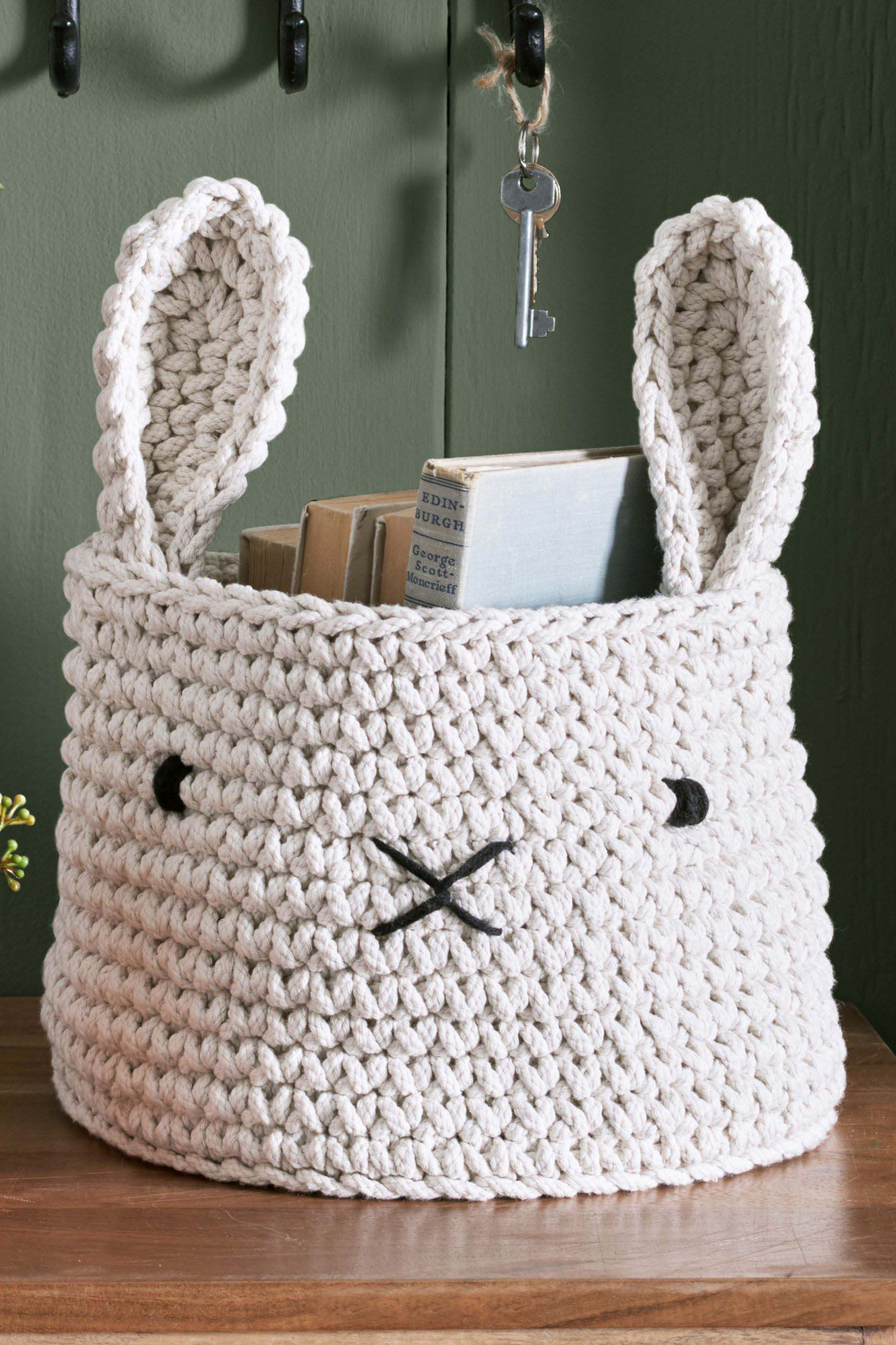 Animal Knitted Storage Basket Crochet Storage Storage Baskets Nursery Storage Baskets