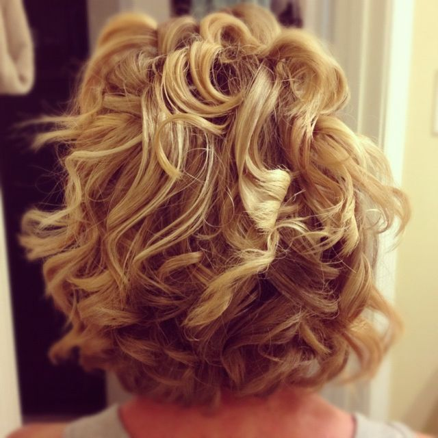 Curly blond