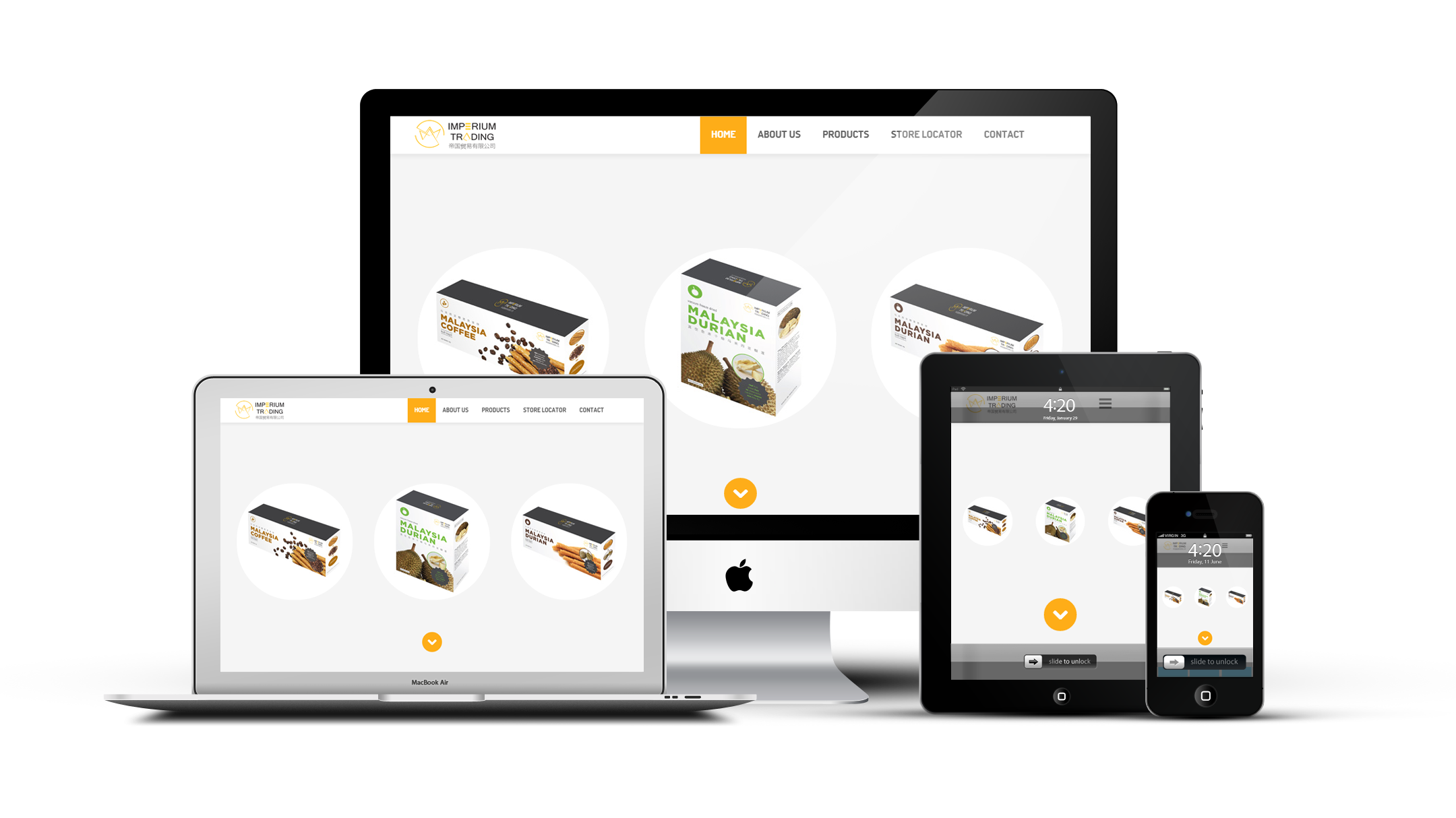 Responsive website design for Imperium Trading which specialized in trading consumer products and currently venture into snacks industry, Subang Jaya, Malaysia.  Visit: www.imperium.my