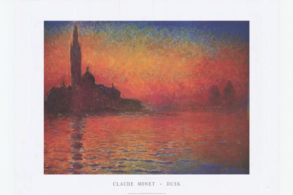 Monet San Giorgio Maggiore At Dusk Art Poster 24x36 Bananaroad