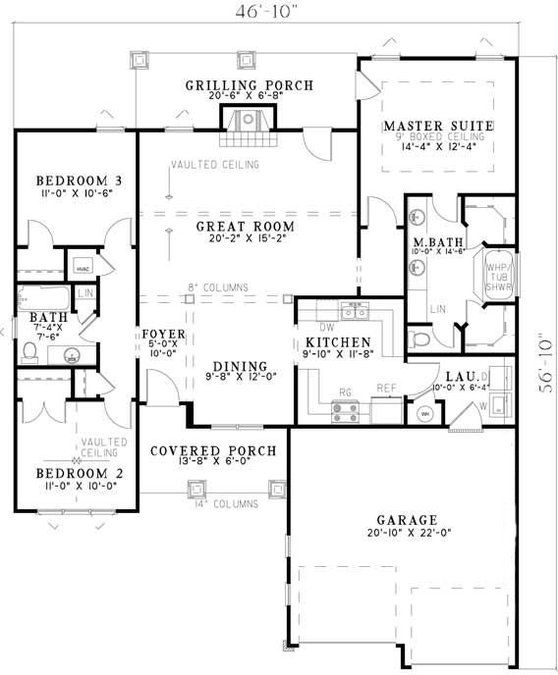 3 Bedroom 2 Bath Bungalow House Plan Alp 06w5 Craftsman Style House Plans Bungalow House Plans House Plans