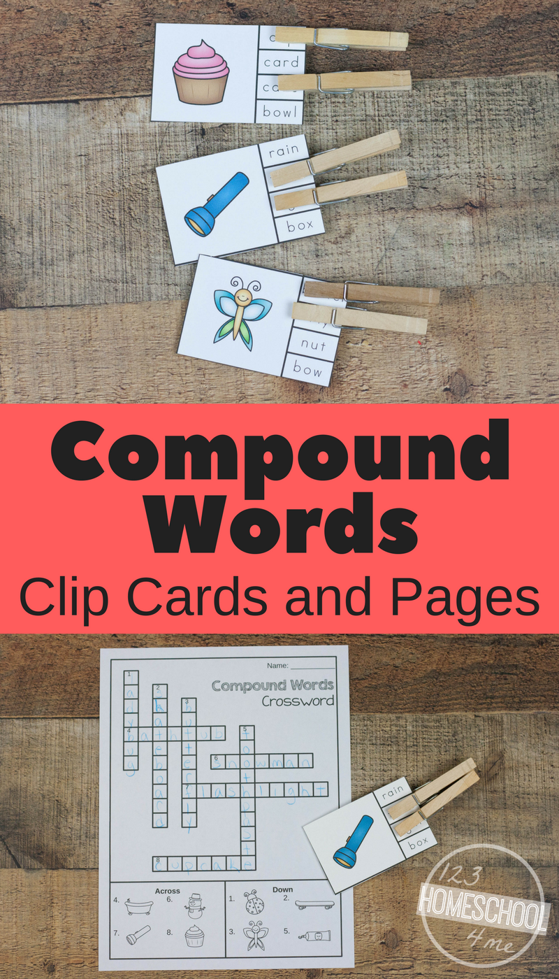 Free Compound Words Worksheets And Clip Cards Activity Compound Words Worksheets Compound Words Compound Words Activities [ 1400 x 800 Pixel ]