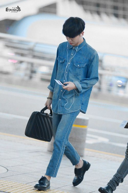 B.A.P Yongguk airport fashion
