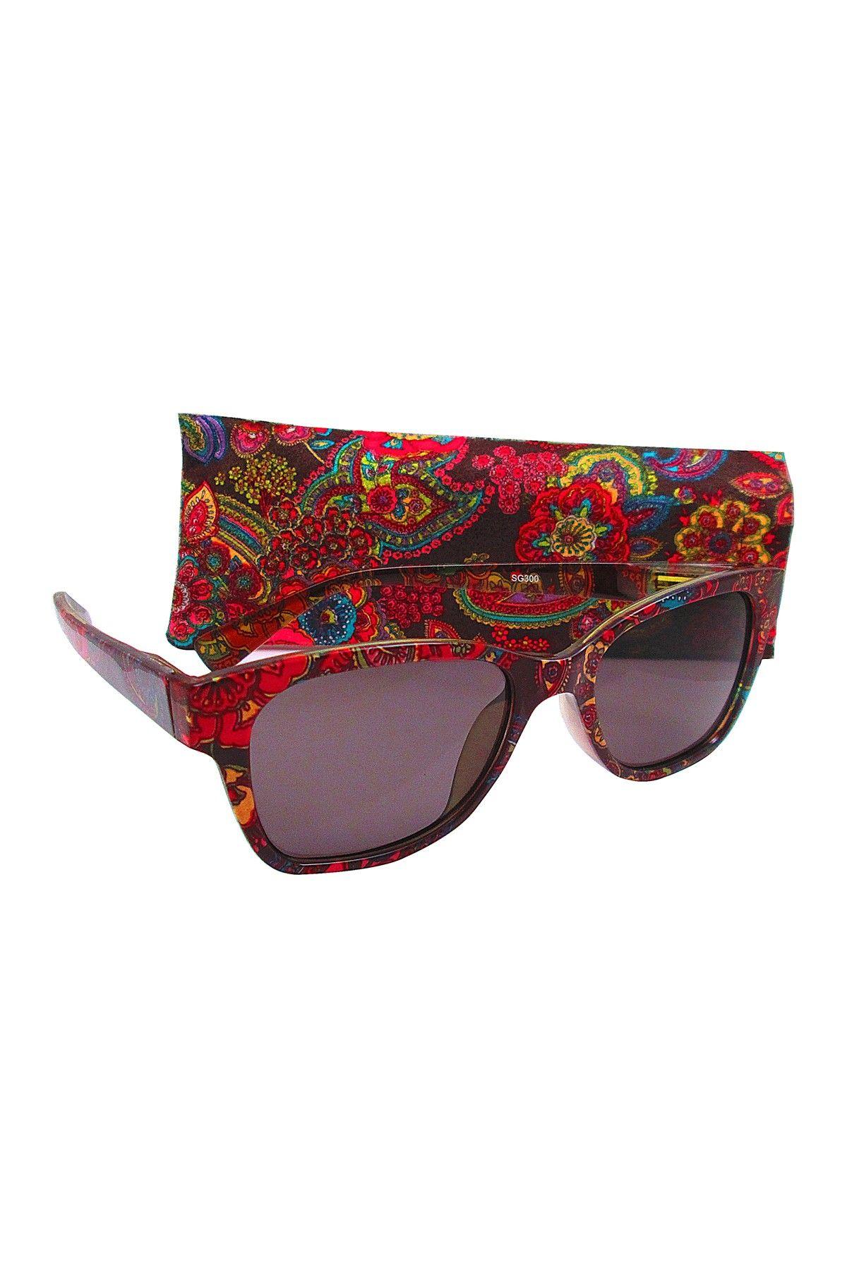 Women's Black Bohemian Sunglasses