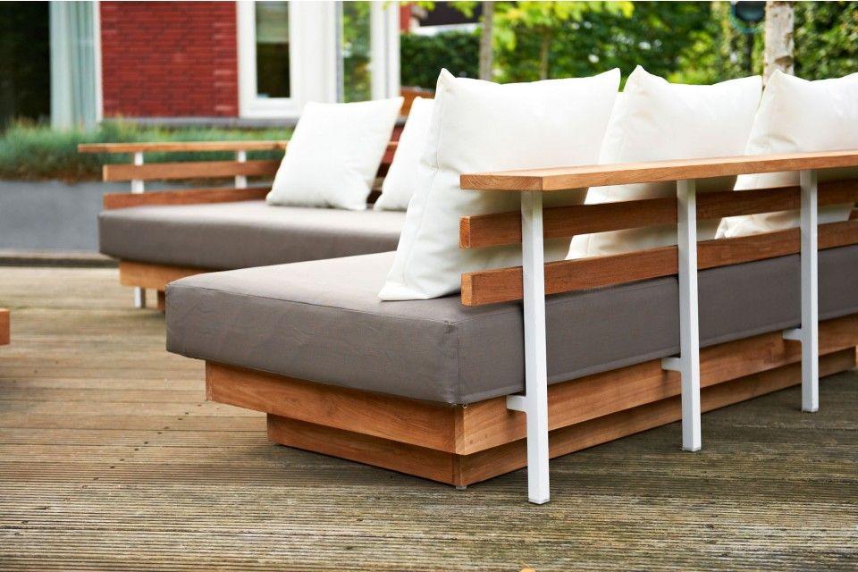 Life london lounge set loungebank garden furniture tuinset tuin gray grijs white - Witte design lounge ...
