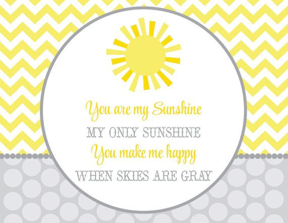 You Are My Sunshine Baby Shower PARTY PACK