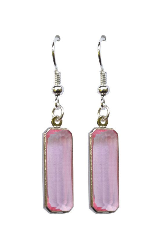 Pink Jewel Earrings  Vintage light pink by ATrendyChicBoutique2, $16.00