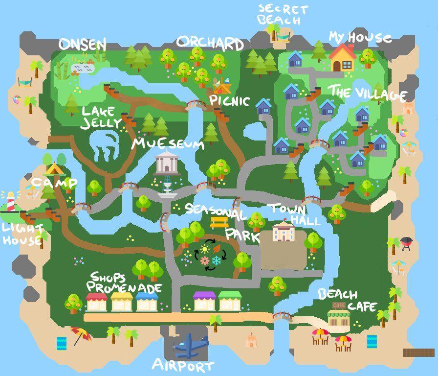 16+ Animal crossing new horizons map design ideas