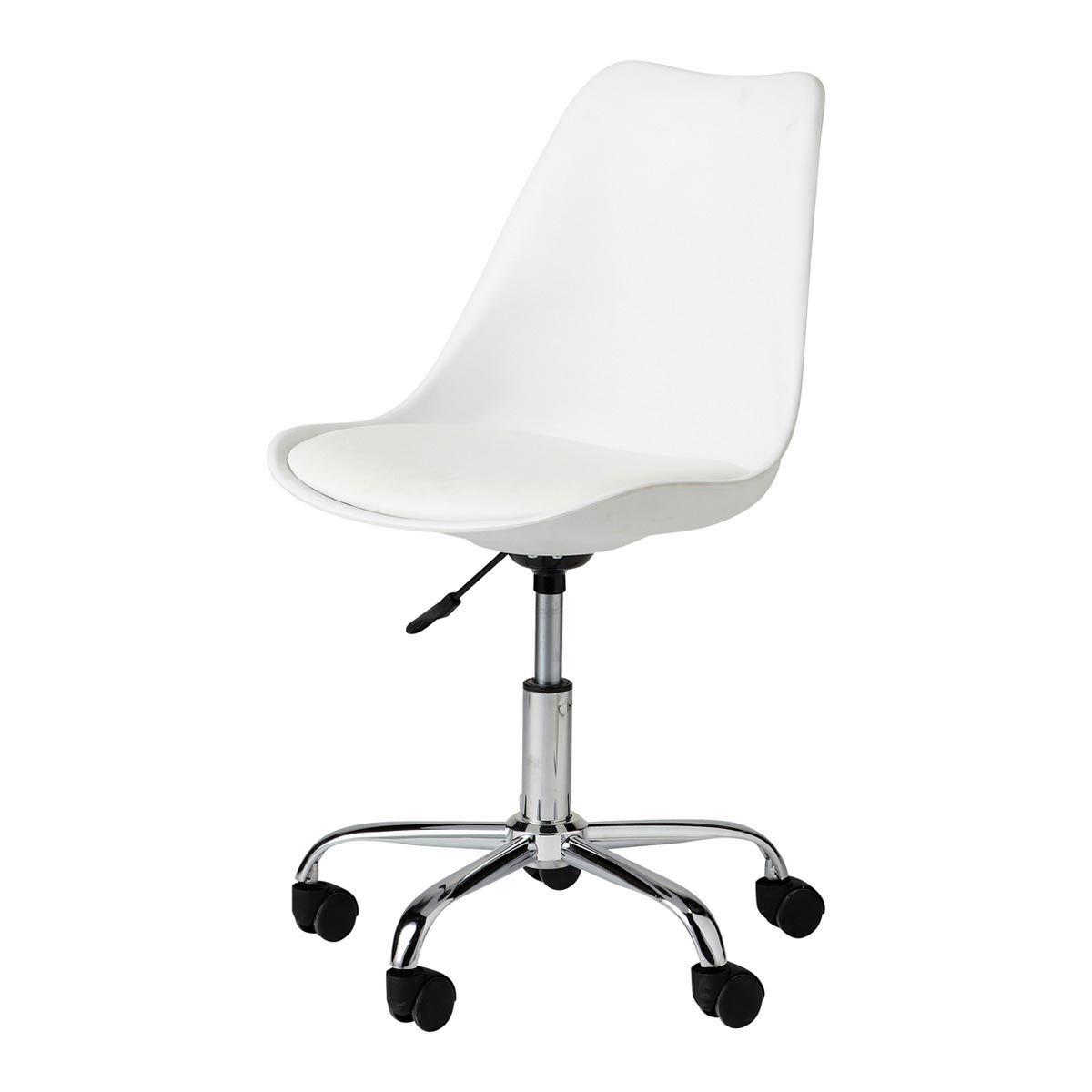 Bureaustoel Op Wieltjes Witte Burostuhl Weiss Schreibtisch Weiss Und Esszimmerstuhl Kissen