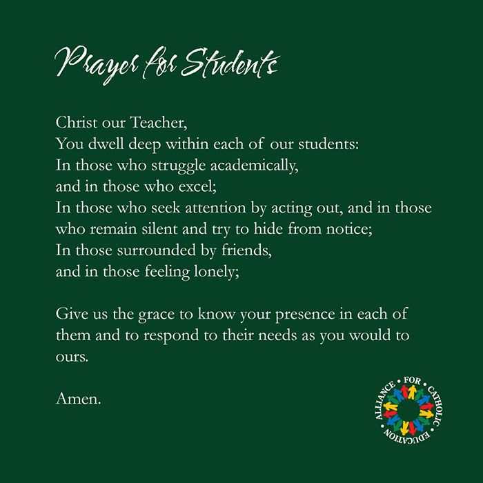Schools Education6 25 18students: Catholic Schools Week 2014 - For Our Students