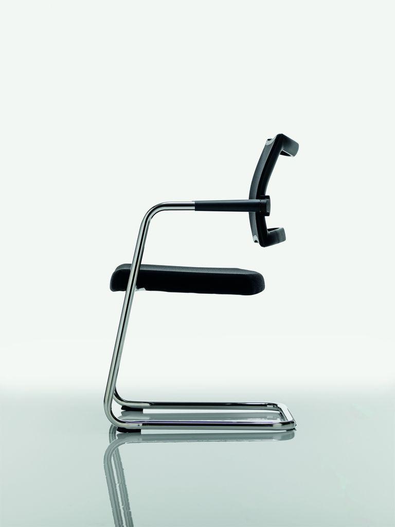 CLASSE Silla de tela by Quadrifoglio Sistemi d'Arredo diseño Centro Design Offisit