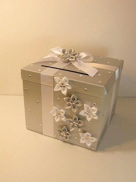Wedding Card Box Champagne Color Gift Money Holder Customize Your